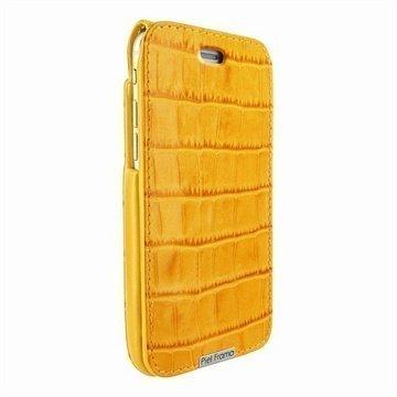 iPhone 6 / 6S Piel Frama iMagnum Nahkakotelo Krokotiili Keltainen