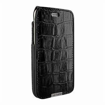 iPhone 6 / 6S Piel Frama iMagnum Nahkakotelo Krokotiili Musta