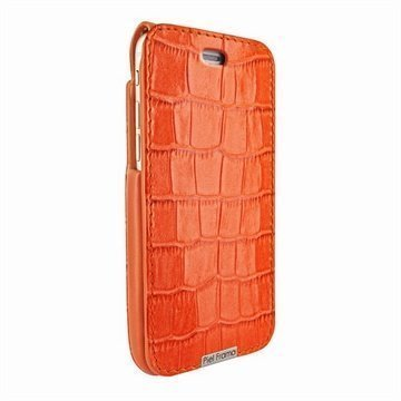 iPhone 6 / 6S Piel Frama iMagnum Nahkakotelo Krokotiili Oranssi