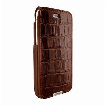 iPhone 6 / 6S Piel Frama iMagnum Nahkakotelo Krokotiili Ruskea