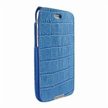 iPhone 6 / 6S Piel Frama iMagnum Nahkakotelo Krokotiili Sininen