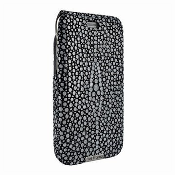 iPhone 6 / 6S Piel Frama iMagnum Nahkakotelo Piikkirauskun Kuvio Musta