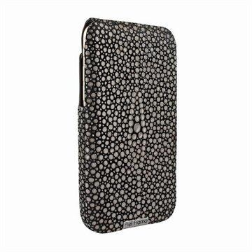 iPhone 6 / 6S Piel Frama iMagnum Nahkakotelo Piikkirauskun Kuvio Ruskea