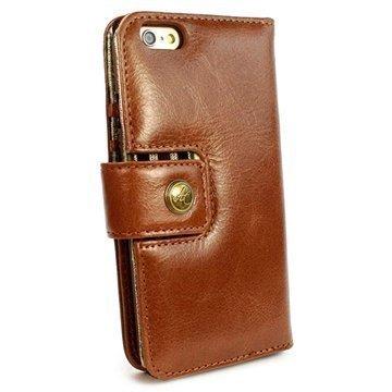 iPhone 6 / 6S Plus Alston Craig Vintage Avattava Aito Nahkakotelo Ruskea
