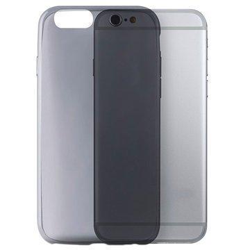 iPhone 6 / 6S Puro 0.3 Ultra Slim Nude Silikonikotelo Läpinäkyvä / Musta