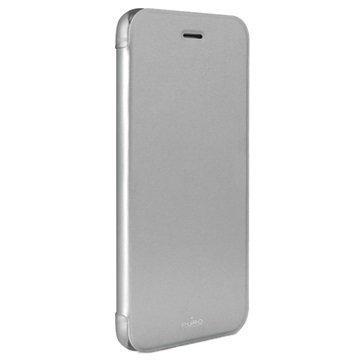 iPhone 6 / 6S Puro Booklet Crystal Suojakotelo Hopeinen