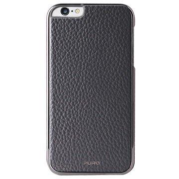 iPhone 6 / 6S Puro Business Nahkapinnoitettu Kova Kotelo Harmaa