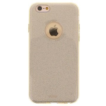 iPhone 6 / 6S Puro Glitter Shine Kotelo Kulta