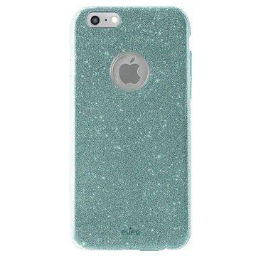 iPhone 6 / 6S Puro Glitter Shine Kotelo Vaaleansininen