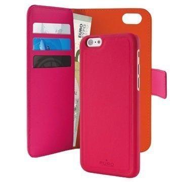 iPhone 6 / 6S Puro Magneettinen Lompakkokotelo Kuuma Pinkki