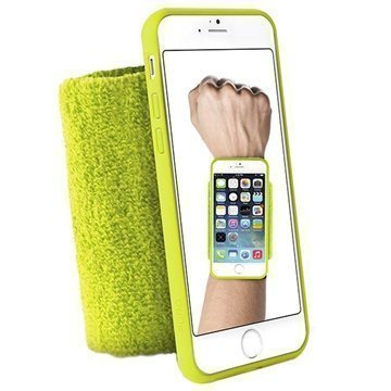 iPhone 6 / 6S Puro Running Käsivarsihihna Lime Vihreä