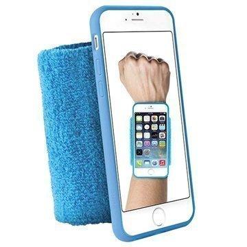iPhone 6 / 6S Puro Running Käsivarsihihna Sininen