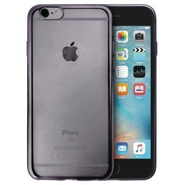 iPhone 6 / 6S Puro Satin Frame TPU-Kotelo Harmaa
