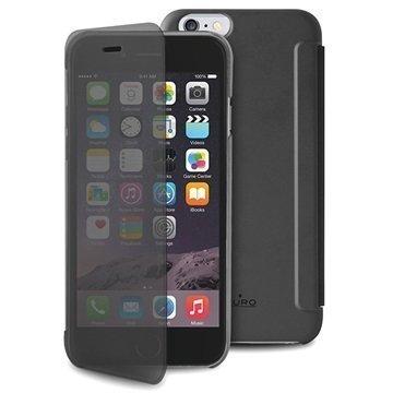 iPhone 6 / 6S Puro Sense Läppäkotelo Musta