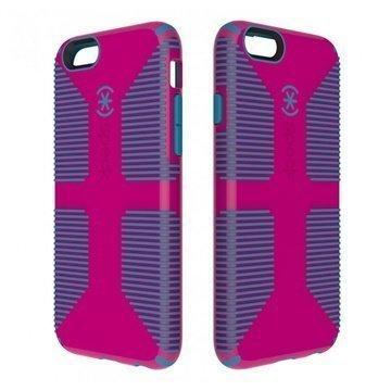 iPhone 6 / 6S Speck CandyShell Grip Kotelo Vaaleanpunainen Huulipuna / Närhen Sininen