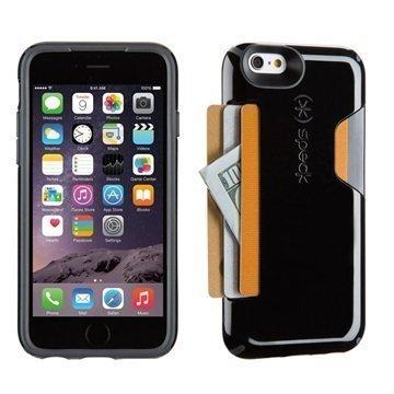 iPhone 6 / 6S Speck CandyShell Korttikotelo Musta / Savenharmaa