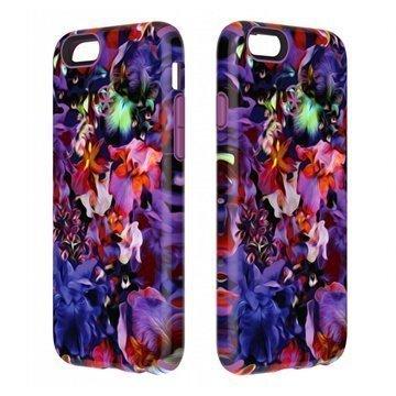 iPhone 6 / 6S Speck CandyShell Tatuoitu Kotelo Värikkäät Kukat / Sininen