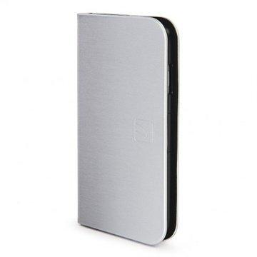 iPhone 6 / 6S Tucano Filo Lompakkomallinen Nahkakotelo Hopea