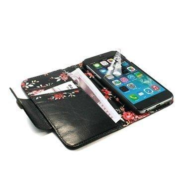 iPhone 6 / 6S Tuff-luv London Ladies Lompakkomallinen Nahkakotelo Musta