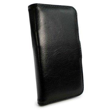 iPhone 6 / 6S Tuff-luv Vintage Wallet Nahkakotelo Musta