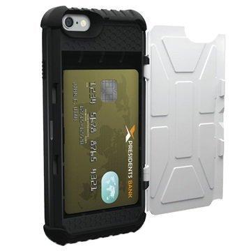 iPhone 6 / 6S UAG Trooper Series Kotelo Musta / Valkoinen