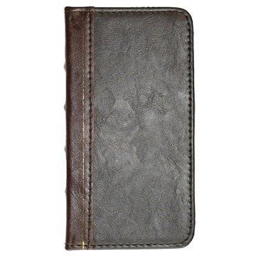 iPhone 6 / 6S UreParts Kirjamallinen Kotelo Ruskea