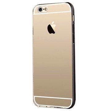 iPhone 6 / 6S Usams Slim Series Hybridikotelo Läpinäkyvä / Musta