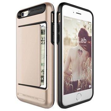 iPhone 6 / 6S VRS Design Damda Clip Series Kotelo Samppanja Kulta