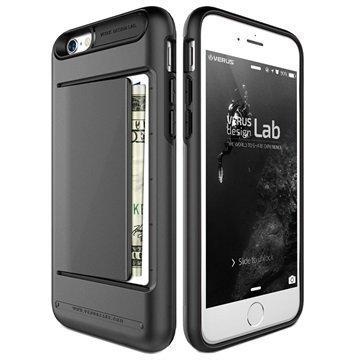iPhone 6 / 6S VRS Design Damda Clip Series Kotelo Teräksisen Hopea