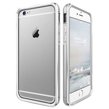 iPhone 6 / 6S VRS Design Iron Series Suojareunus Valkoinen / Hopea