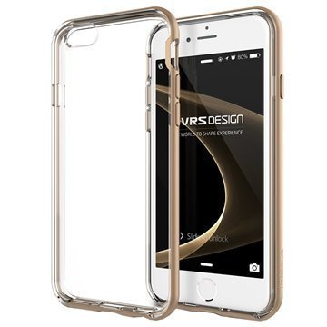 iPhone 6 / 6S VRS Design New Crystal Bumper Series Kotelo Hohtava Kulta