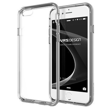 iPhone 6 / 6S VRS Design New Crystal Bumper Series Kotelo Vaalea Hopea