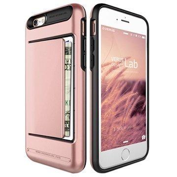 iPhone 6 / 6S Verus Damda Clip Series Kotelo Ruusukulta