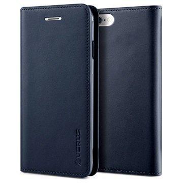 iPhone 6 / 6S Verus Diary Lompakkomallinen Nahkakotelo Laivastonsininen
