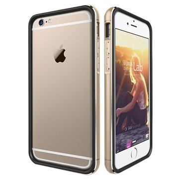 iPhone 6 / 6S Verus Iron Series Suojareunus Musta / Kulta