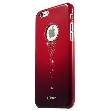 iPhone 6 / 6S X-Fitted Stars Fall Swarovski Crystal Suojakotelo Punainen