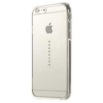 iPhone 6 / 6S X-Fitted Swarovski Crystal Suojakotelo Horizon Hopeinen