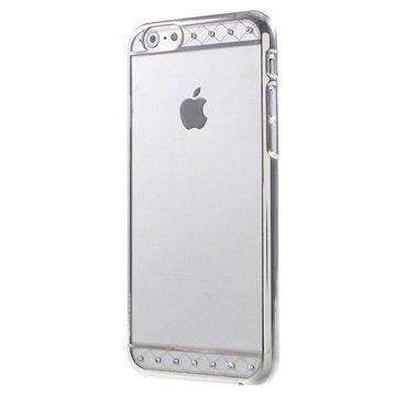 iPhone 6 / 6S X-Fitted Swarovski Crystal Suojakotelo Koristenauha Hopeinen