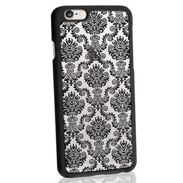 iPhone 6 / 6S iGadgitz 3D Designer Collection Damastikuvioitu Kova Kotelo Musta