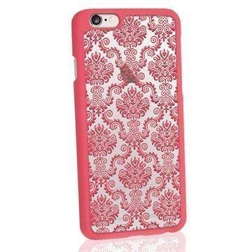 iPhone 6 / 6S iGadgitz 3D Designer Collection Damastikuvioitu Kova Kotelo Pinkki
