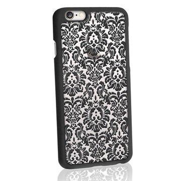 iPhone 6 / 6S iGadgitz 3D Designer Collection Vintage Kuvioitu Kova Kotelo Musta