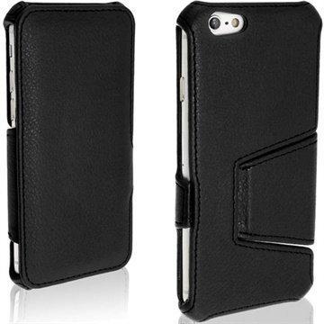 iPhone 6 / 6S iGadgitz Avattava Nahkakotelo Musta