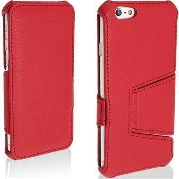 iPhone 6 / 6S iGadgitz Avattava Nahkakotelo Punainen