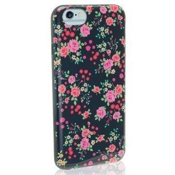iPhone 6 / 6S iGadgitz Designer Collection Kukkakuvioitu TPU-Kotelo Sininen
