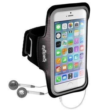 iPhone 6 / 6S iGadgitz Lipsumaton Urheilu Käsivarsinauha Musta