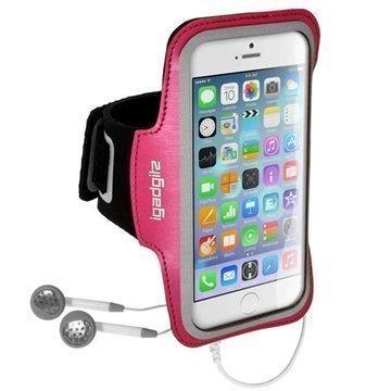 iPhone 6 / 6S iGadgitz Lipsumaton Urheilu Käsivarsinauha Tumman Vaaleanpunainen
