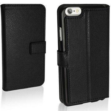 iPhone 6 / 6S iGadgitz Premium Nahkakotelo Musta