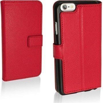 iPhone 6 / 6S iGadgitz Premium Nahkakotelo Punainen