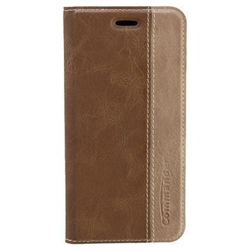 iPhone 6 Commander Book Flip Leather Case Brown