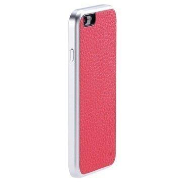 iPhone 6 Just Mobile AluFrame Nahkakotelo Pinkki